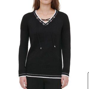 Calvin Klein NWT black sweater vneck